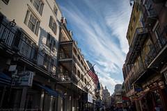 Flags under blue sky (gemapozo) Tags: bourbonstreet d850 nikon usa frenchquarter neworleans ニューオーリンズ ルイジアナ州 アメリカ合衆国 us afsnikkor2485mmf3545gedvr フレンチクォータ バーボンストリート