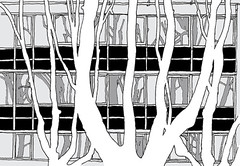 Dr. Wilmar Schwabe, Durlach, Karlsruhe, January 2019 (stevefaradaysketches) Tags: drwilmarschwabe durlach karlsruhe urbansketch urbansketchers usk inkdrawing illustration onlocation fineliner trees negativespace art shadows office building