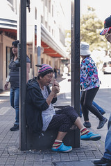 Smoke Break (Corey Rothwell) Tags: street downtown city smoking bricks hawaii contrast