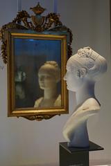Elisa Bonaparte at the mirror (davide.alberani) Tags: bologna palazzo pepoli museo museum history city città elisa bonaparte mirror bust specchio busto statua statue frame cornice