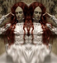 mirror sleep (dolls of milena) Tags: bjd resin doll aishat black cherry portrait