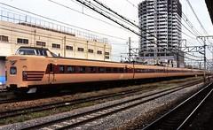 Japan Rail's Kitakinki express pasesenger train at Kyoto in the mid-90s (2) (Tangled Bank) Tags: jr japan rail japanese asia asian urban train station pasenger equipment stock kyoto 1990s 90s railway railroad