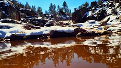 Even You Are Melting (VGPhotoz) Tags: vgphotoz arizonabeauty water snow mountain olympus em1markii m1442mm f3556 ƒ90 140 mm 1400 200 reflections metlingsnow winterinarizona payson waterwheel rocks apa h2o upnorth tontonationalforest explorearizona arizona artisticphotorgaphy photography naturephotography february 2019 america northamerica usa southwest americanwest photofetish