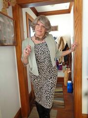Aunt Laurette Is Here! (Laurette Victoria) Tags: dress animalprint laurette woman auntlaurette