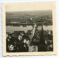 . (Kaïopai°) Tags: france occupation wwii ww2 wehrmacht besetzung pont river fluss bridge brücke kirchturm eglise view old vintage