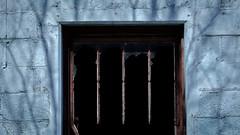 dividers, divided (jtr27) Tags: dscf5722xl jtr27 fuji fujifilm fujinon xt20 xf 50mm f2 f20 rwr wr blue building abandoned