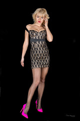 Ania (piotr_szymanek) Tags: ania aniaz woman young skinny portrait studio face eyesoncamera pink shoes highheels blonde longhair 1k 20f 50f 5k