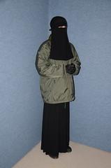 Warm Clothed (Warm Clothes Fetish) Tags: apron maid slave sweat torture boots coat fur fleece hot warm girl hijab niqab