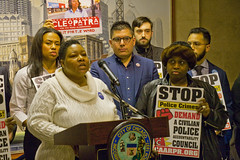Jeanette Taylor for the 20th Ward City of Chicago Aldermanic Candidates Press Conference to Support Civilian Police Accountability Council Chicago Illinois 1-9-19 5549 (www.cemillerphotography.com) Tags: cops brutality shootings killings rekiaboyd laquanmcdonald oversight reform corruption excessiveforce expensivelawsuits policeacademy