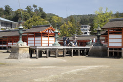 Close up of the Itsukushima shrine (fnks) Tags: asia japan tokyo hiroshima miyajima island sea trees ropeway shrines buddhism temples ferry sky deer beach tides tanterns water sunshine mountains