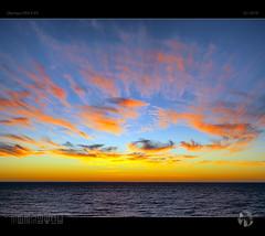 Painting The Sky (tomraven) Tags: sky clouds sun dusk sunset cloud colours painting sea ocaen coast coastal beach tomraven aravenimage q12019 olympus ep5
