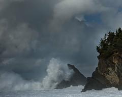 Stormy skies (Cape Arago Photographer) Tags: water ocean storm clouds beach oregon oregoncoast