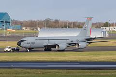 63-8013 KC-135R USAF Prestwick 09.02.19 (Robert Banks 1) Tags: 638013 38013 boeing kc135r kc135 k35r usaf united states air force prestwick 121 arw ohio ang