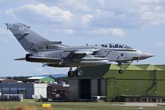 Royal Air Force, Tornado GR4, ZD842 / 105. (M. Leith Photography) Tags: raf lossiemouth lossie aviation jet panavia tornado gr4 scotland scottish sunshine royal air force mark leith photography nikkor 70200vrii nikon airplane aircraft sky cockpit grass field