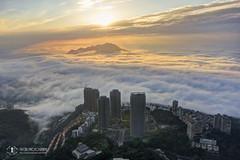 小坪頂與觀音山雲海 (Yu-Chu Lien) Tags: dji mavic mavic2 mavic2pro m2p drone aerialphotography 空拍 空拍機 航拍 小坪頂 觀音山 雲海 天境360 晨昏 夕陽