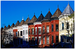 2019/056: Crowned Ladies (Rex Block) Tags: 2019056crownedladies nikon d750 dslr 85mm f18g washington dc 13thstreet ustreet rowhouse townhouse cap crown project365 365the2019edition 3652019 day56365 25feb19