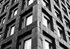 Black Mass (Douguerreotype) Tags: sverige monochrome symmetry blackandwhite abstract sweden buildings stockholm mono architecture city window urban bw geometric geometry
