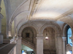 New York Public Library Entrance Hall Lobby 3610 (Brechtbug) Tags: new york public library entrance hall lobby 5th ave facade city interior stairs staircase stone marble 2019 nyc 03122019 art architecture designed by artist sculptor paul wayland bartlett carved the piccirilli brothers was two lions main branch stephen a schwarzman building consolidation astor lenox libraries beaux arts design style