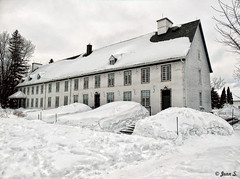 ... (Jean S..) Tags: house building snow winter cold ice windows roof rooftop white clouds cloudy