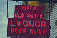 Hires Old South (Pete Zarria) Tags: green ohio lincoln highway sign old small town city decayed