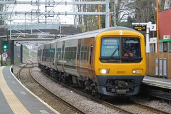 History in the making (The Walsall Spotter) Tags: westmidlandsrailway class323 emu bloxwich railway station thechaseline thechaselineelectrification overheadlineequipment overheadwires history first electric power 323217 refurbished platform hunslet network rail
