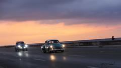 Cuban Sunset_IMG_1925 (Alfred J. Lockwood Photography) Tags: alfredjlockwood travelphotography streetphotography malecon havana cuba classiccar pan panning sunset chevrolet road highway