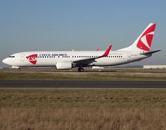 OK-TST, Boeing 737-86N(WL), 37884 / 3223, CSA Czech Airlines, operated by Smartwings, CDG/LFPG 2019-02-15, taxiway Bravo-Loop. (alaindurandpatrick) Tags: 378843223 oktst 737 738 737800 737nextgen boeing boeing737 boeing737nextgen boeing737800 jetliners airliners ok csa csaline csaczechairlines qs tvs skytravel smartwings airlines cdg lfpg parisroissycdg airports aviationphotography