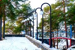 outdoor lamps in a row (jonarnefoss2013) Tags: oppegård ingierstrand akershus symmetri