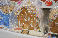 Gingerbread House Decorated by House Keeping (NottawasagaResort) Tags: nottawasagaresort nottawasaga nottawasagainn nottawasagainnresort inn resort hotel raffle humane society gingerbread gingerbreadhouse candy house chocolate frosting christmas charity alliston allistonontario donation staff event dogs cats pets sugarplumfair sugar plum fair spf barbie cookie monster local animals
