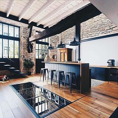 Beautiful wood and stone kitchen and dinning area. What do you think? #kitchendesign #kitchenlife #kitchendecor #kitcheninspo #kitchens #woodworking #kitchen #interior #livingroom #decoration #instahome #diningroom #diningtable #table #decor #homedecor #i (CoolHomeStyling) Tags: instagram ifttt