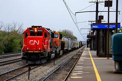 Three Three Seven (BravoDelta1999) Tags: canadiannational cn railway illinoiscentral ic railroad chicagosubdivision riverdale illinois metra metx electric station emd sd60 5442 m337 manifest train