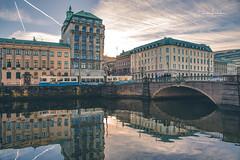 My Hometown part 4 (Fredrik Lindedal) Tags: city cityscape cityview bridge buildings reflection reflections train tram clouds sunlight sun people sweden sverige göteborg gothenburg lindedal nikon d750