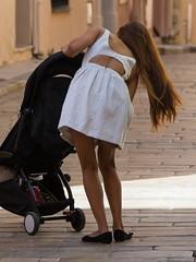 20180908-142948 (ze06) Tags: candid street sainttropez sexy girl gorgeous glamour woman mother brunette hair dress minidress legs cute tattoo