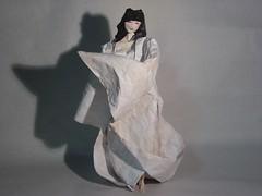 Yuki-Onna(雪女)(Snow Spirit) (Zenshiro Toshinao (Origami Photos)) Tags: 折り紙 origami paperfolding figure japan snowspirit