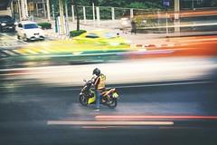 Dòng đời vội vã (Tài Trần) Tags: street longexposure biker thailand