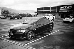2008 Holden Commodore SS..! (Matthew Paul Argall) Tags: kodakstar500af 35mmfilm ilforddelta100 100isofilm blackandwhitefilm blackandwhite car vehicle automobile transportation holden holdencommodore generalmotors sedan carspotting