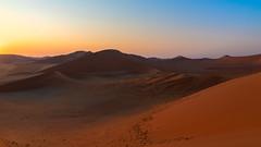 SossusVlei Sunrise [Explored 03.09.2019] (Enrique EKOGA) Tags: namibia africa desert sesriem sossusvlei sand dune sunrise light colours bluesky sky gradientsky travel landscape nikon d800e outside namibnaukluftnationalpark dusk shadow cielo colors ciel morning explore