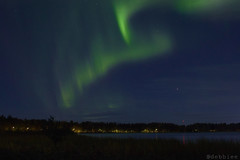 Northern Lights (debbiee14) Tags: northern nature night aurora borealis auroraborealis lights dark green finland travel magic magical lake city cityscape landscape photography oulu forest amazing