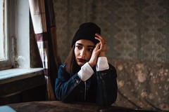 Sad (vlkvaph) Tags: hands female woman mood black cute young pretty soul melancholic melancholy light darkness dark girl atmospheric atmosphere cinematography cinematic photographer photography photo canon canon6d model
