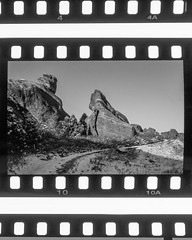 Red Rocks Colorado (Jovan Jimenez) Tags: canon eos rebel t2 ef 40mm stm adox scala 160 bw slide film red rocks colorado reversal analog analogue black white gray mono