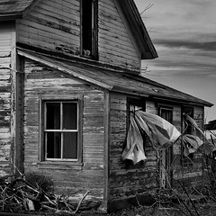 Curtains (arbyreed) Tags: arbyreed monochrome bw blackandwhite old abandoned forgotten disused ghosttown faustghosttown oldabandonedhouse haunted