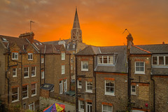 La finestra sul cortile / Rear Window (Hammersmith, London, United Kingdom) (AndreaPucci) Tags: hammersmith fulham baronscourt church sunrise andreapucci london uk