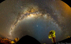 The Milky Way Bow (myshutterworld) Tags: otago canterbury newzealand west coast franz josef fox glacier south island landscape mountains peaks sunrise stick tree serene picturesque gorgeous spectacular beautiful mind blowing amazing middle earth heavenonearth milky way astrophotography dslr large small magellanic clouds snowcapped moonlit moonlight panorama mosaic bow sky