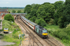 68002 Reedham 16/06/18 - 68002 cruises through Reedham with 2C56 non stop Norwich to Great Yarmouth airshow special. The 'Cats' were hired by Greater Anglia to provide additional capacity for people watching the Great Yarmouth Airshow. (rhayward92) Tags: 68002 drs direct rail services greateranglia reedham 2c56 class 68