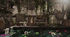 Go Green.... (kellytopaz) Tags: greenhouse neo japan merak hive virtual living second life tropical fish koi flowers spa retreat