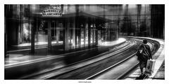 Take a new turn ... (michel di Méglio) Tags: olympus bw station gare noiretblanc silverefexpro marseille zuiko monochrome street blur