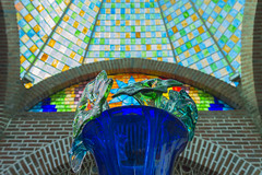 Glass Flowers and Stained Glass at Cabo San Lucas Glass Factory (aaronrhawkins) Tags: glass art glassblower shop factory cabosanlucas mexico artistic flower stained ceiling colorful transparent dome vase tourist tourism visit vacation aaronhawkins
