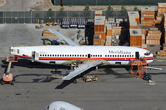N578UA, Boeing 737-700, Meridiana, San Bernardino California. (ColinParker777) Tags: boeing 737 73g 737700 73773v n578ua eiigt gezjz easyjet plane airplane aircraft airline airlines airliner airways lcc italy scrap scrapped scrapping storage retired metal derelict san bernardino ksbd sbd air2ground california airport ramp apron pig canon 7d 7d2 7dii 7dmkii 7dmk2 100400 l lens zoom telephoto cockpit jet road 32421 1357