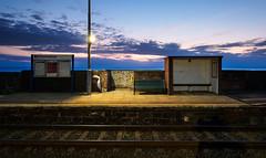 Parton station night 2 (Alf Branch) Tags: westcumbria cumbria parton partonstation railwaystation station railway unitekingdom england urban transport publictransport alfbranch olympus omd olympusomdem5mkii leicadg818mmf284