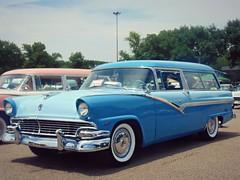 Blue Parklane (novice09) Tags: backtothefifties carshow ford 56 stationwagon parklane whitewalls ipiccy